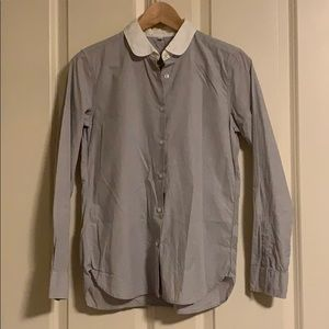 Muji Women's Shirt with Rounded Collar